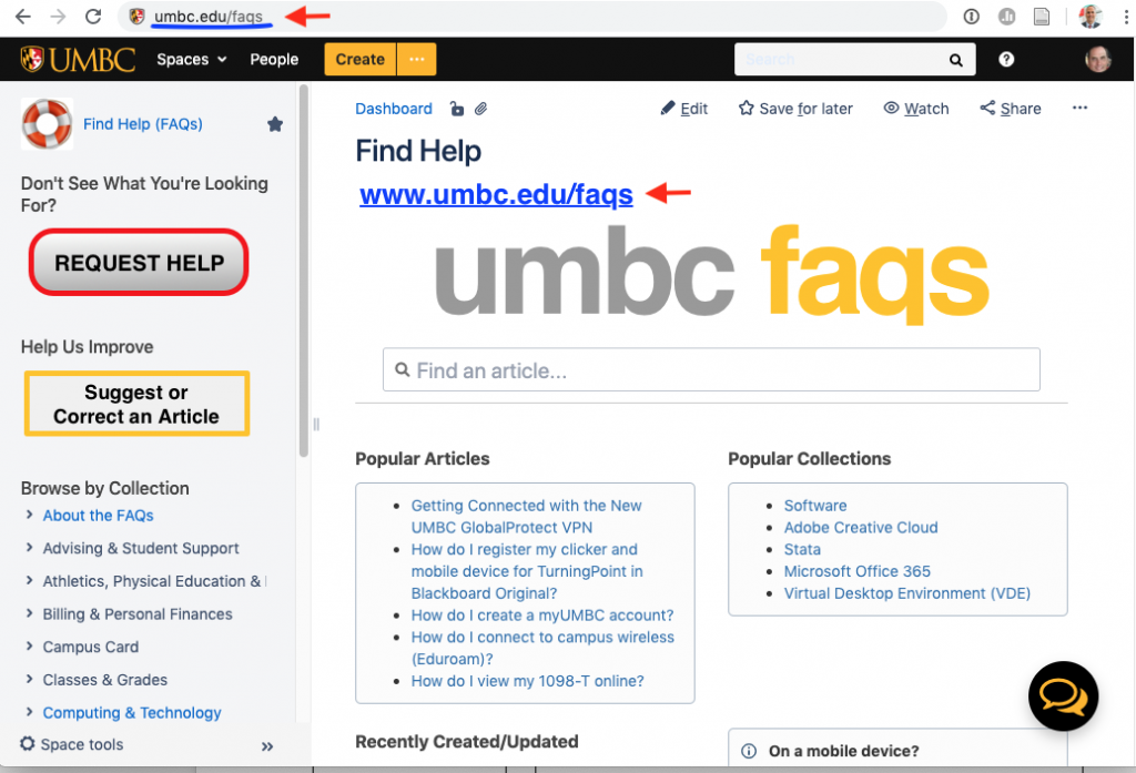 Why Use UMBC FAQs?