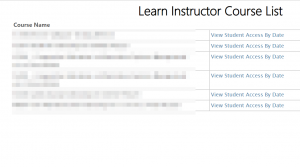 Learn Instructor Course List